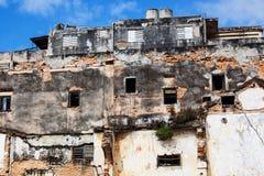 老被破坏的房子 免版税库存照片