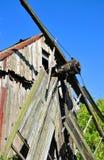 老被破坏的磨房 库存照片
