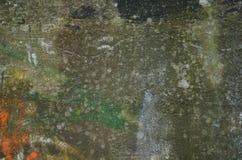 老被绘的墙壁textture 免版税库存图片