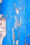 老被绘的小船片断  免版税库存照片