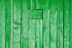 老被绘的木墙壁纹理或背景与拷贝空间 板条绿色 库存图片