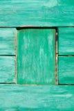 老被绘的木墙壁纹理或背景与拷贝空间 板条绿色 库存照片