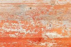 老被绘的木墙壁-纹理或背景 免版税库存图片