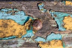 老被绘的木板条 免版税库存照片
