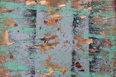 老被绘的木板纹理 库存照片