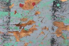 老被绘的木板纹理 免版税图库摄影