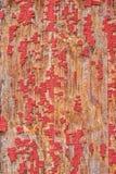 老被绘的木头,纹理背景 免版税库存照片