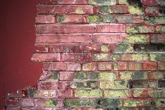老被绘的砖 免版税库存图片