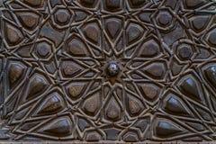 老装饰伊斯兰教的木艺术 免版税图库摄影