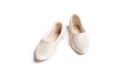 老装饰小雕象瓷鞋子 免版税库存图片