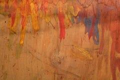老褐色被绘的木胶合板盘区背景 库存照片
