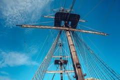 老西班牙人船细节  免版税库存图片