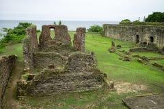 老西班牙堡垒在巴拿马 库存照片