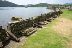 老西班牙堡垒在Portobelo巴拿马 免版税库存照片