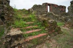 老西班牙堡垒废墟在巴拿马 库存照片