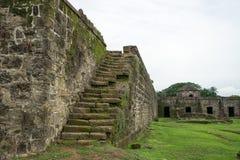老西班牙堡垒废墟在巴拿马 免版税库存照片