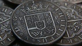 老西班牙硬币的汇集 影视素材