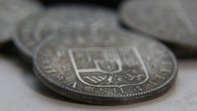 老西班牙硬币的汇集 股票视频