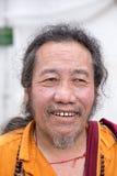 老西藏和尚在达兰萨拉,印度 库存照片