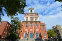 老西部教会,波士顿,马萨诸塞,美国 免版税库存照片