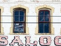 老西部的律师事务所 免版税库存照片