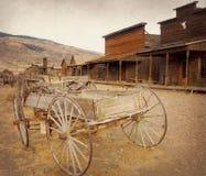 老西部,老足迹镇, Cody,怀俄明,美国,葡萄酒版本 免版税库存图片
