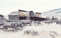 老西部,老足迹镇, Cody,怀俄明,美国 库存图片
