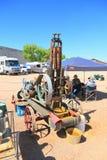 老西部:捣碎机和矿石破碎机金矿石的 免版税库存照片