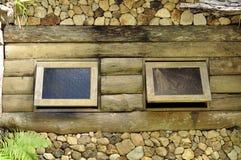 老视窗木头 免版税库存照片