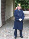 老警察制服。林雪平。瑞典 免版税图库摄影