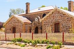 老警察局和赤褐色法院大楼的博物馆- 免版税库存照片