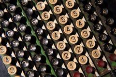 老计算器键盘 库存照片
