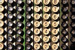 老计算器键盘 免版税库存照片