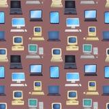 老计算机传染媒介例证 免版税图库摄影