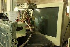 老计算机显示器。 免版税库存图片
