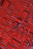 老计算机电路板 免版税库存图片
