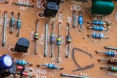 老计算机电路板 库存图片