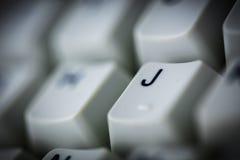 老计算机键盘 免版税库存图片