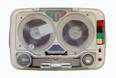 老记录员减速火箭的磁带 免版税库存照片