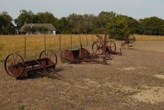 老设备农场 免版税库存照片
