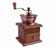 老设计磨咖啡器 库存照片