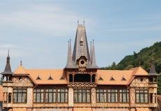 老详细资料德国房子 免版税库存图片