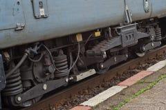 老详细资料柴油电力机车 免版税图库摄影