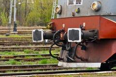 老详细资料柴油电力机车 免版税库存照片