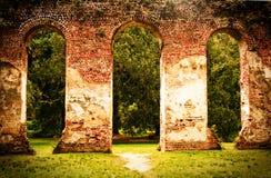 老谢尔登教会废墟 库存照片