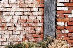 老谷仓墙壁 免版税库存图片