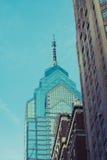 老费城摩天大楼 免版税库存图片