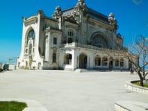 老赌博娱乐场大厦在康斯坦察,罗马尼亚 库存照片