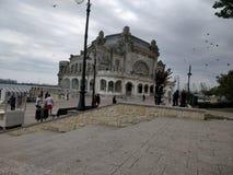 老赌博娱乐场康斯坦察罗马尼亚2018年 免版税库存照片