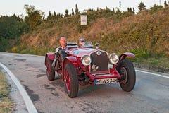 老赛车阿尔法・罗密欧6C 2500 (1934) 库存照片